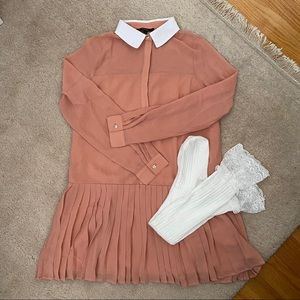 Forever 21 Peaches & Cream Collared Dress + Socks